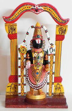 Lord Venkateshwara - Kondapalli Doll (Wood)