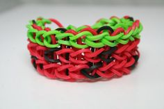 Strawberry and Watermelon Double Rainbow Loom