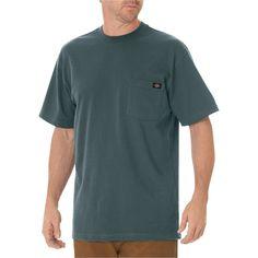 Dickies Men's Big & Tall Cotton Heavyweight Short Sleeve Pocket T-Shirt- Lincoln Green Xxl Tall