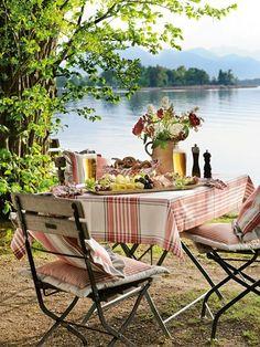 Dinner at the Lake