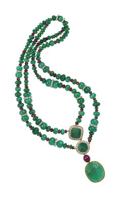 EMERALD, RUBY AND DIAMOND NECKLACE   Jewelry, necklace   Christie's