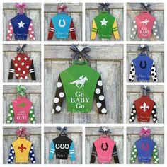 CUSTOM Kentucky Derby Jockey Silk Door Hanger Design Your