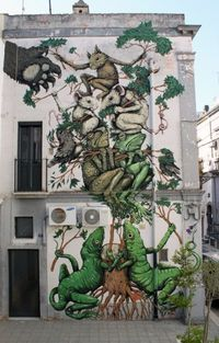 The awesome work of Ericailcane on a wall in Italy 2011