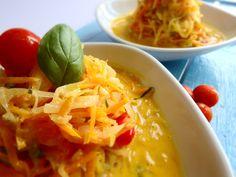 Esparguete de curgete e cenoura