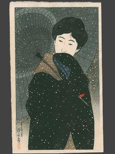 Japanese Painting : Ukiyo-e : Woodblock Prints : Japanese Scrolls : The Art of Japan  Shinsui