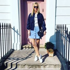 Spring is all about the pastels & a easy bomber jacket #AsSeenOnMe