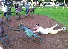 Escultura y #personas, el resultado es de lo mas gracioso