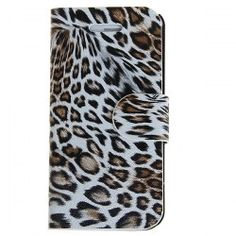 @EverBuying  $5.66 Unique Leopard Print Design Artificial Leather and Plastic Wallet Stand Case for iPhone 5 (Brown) #gifts