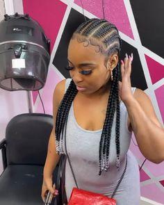 Cornrows Natural Hair, Braided Cornrow Hairstyles, Feed In Braids Hairstyles, Braids Hairstyles Pictures, Easy Hairstyles, Cornrows With Beads, Braided Hairstyles For Black Women Cornrows, Braids For Black Hair, Black Women Hairstyles