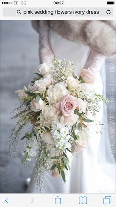 Need a bridal bouquet inspiration for your wedding? Consider the white bridal bouquet. While we love scoping out all of the innovative floral designs that are out there, a white bouquet will forever be timeless. But why white? Cascading Bridal Bouquets, Cascading Wedding Bouquets, Cascade Bouquet, Bride Bouquets, Bridal Flowers, Flower Bouquet Wedding, Floral Wedding, Winter Wedding Bouquets, Bouquet Flowers
