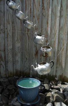 Garden Fountains, Water Fountains, Spring Garden, Dream Garden, Garden Fun, Gravel Garden, Garden Whimsy, Garden Planters, Herb Garden