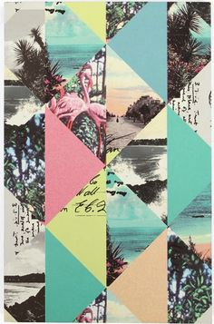 Loving the mix of pastel and tropical images #art #inspiration