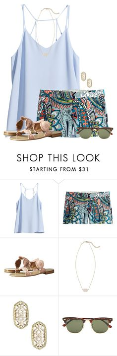 """~ guide your own ship ~"" by flroasburn ❤ liked on Polyvore featuring H&M, J.Crew, Jack Rogers, Kendra Scott and Ray-Ban"