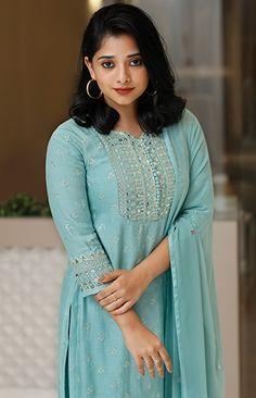 Long Dress Design, Dress Neck Designs, Kurti Neck Designs, Kurta Designs Women, Kurti Designs Party Wear, Stylish Dress Designs, Salwar Designs, Indian Gowns Dresses, Indian Fashion Dresses