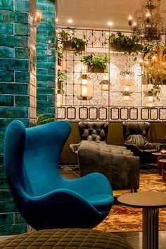 Hotel Munich Haidhausen Motel One Hotel Motel, Egg Chair, One Design, Munich, Color Schemes, Waiting, Organic, Artists, Colour