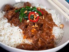 Grains, Curry, Healthy Recipes, Healthy Food, Food And Drink, Rice, Beef, Asian, Koti