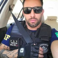 Arrest me please! Cop Uniform, Men In Uniform, An Officer And A Gentleman, Sexy Men, Hot Men, Hot Cops, Scruffy Men, Hunks Men, Military Men