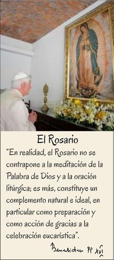 97 best rosario images on pinterest praying the rosary virgin tarjetas y oraciones catolicas frases del rosario benedicto xvi thecheapjerseys Choice Image
