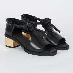 Ayaka Mid Heel Black/Gold