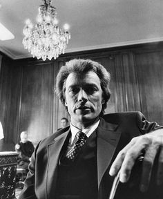 Clint Eastwood photographed on the set of Dirty Harry, 1971