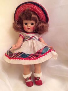 "VINTAGE VOGUE STRUNG 8"" GINNY DOLL 1953 ""June"" #41, Tiny Miss Series, This doll sold for $575"