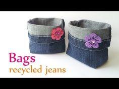 Come Riciclare Vecchi Jeans e Creare Qualcosa di Molto Utile!! [VIDEO]