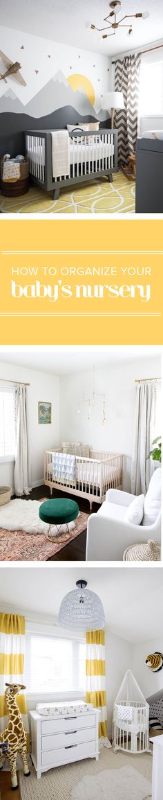 These ideas will help you with your baby nursery organization. From where to put the crib to the changing table to the dresser, there are  lots of tips for small spaces.