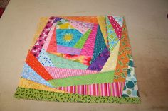 How to sew an easy Crazy Quilt block by abbyholverson...You can use these super interesting-looking blocks in typical things like quilts, but they are cool enough to stand alone in a throw pillow, wall hanging, or tote bag.