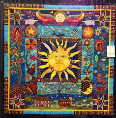 Diary of a Quilt Maven  I have a few of my brothers paintings of the sun! I need to make a quilt using his designs!
