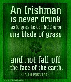 Irish proverb- haha love it!