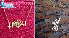 42% off 24K Gold Plated or Rhodium Plated Customized Valentine's Necklaces from iemanja ($28 instead of $48)