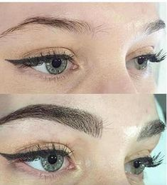 Ava: the best-selling microblading liquid eyebrow pen that leaves your eyebrows looking naturally full and beautiful.Perfect to use on light-colored, broken, uneven, or sparse eyebrows.Use the pen on a angle, first working with the. Types Of Eyebrows, Sparse Eyebrows, Filling In Eyebrows, Natural Eyebrows, Eyebrows On Fleek, Perfect Eyebrows, Perfect Eyes, Tattooed Eyebrows, Eyebrow Filling