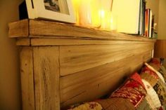 Hervorragend Love The Headboard Wide Enough To House Candles Etc. Could Be Modified To  Also Have