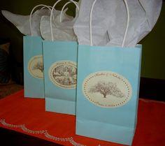 Savannah Wedding Stickers / Labels  Oak Tree or by theinklab