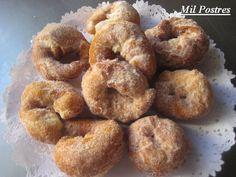 Rosquillas fritas de moscatel y naranja