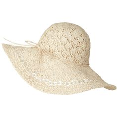 Natural Bead Brim Crochet Hat found on Polyvore