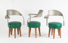 Philippe Starck. Two 'Paris' armchairs, 1989. Made by Maletti S.p.A., Scandiano