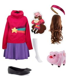 I actually just finished my mabel cosplay :> Gravity Falls Costumes, Gravity Falls Cosplay, Cosplay Casual, Cosplay Outfits, Simple Cosplay, Halloween Costumes For Girls, Diy Costumes, Coroline Costume, Cartoon Costumes