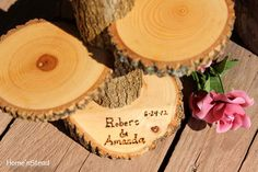 Custom Names Rustic Wedding Log 3 Tiered Stand With by HomenStead, $34.00