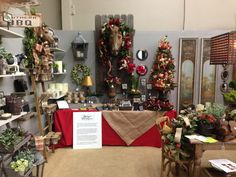 Designer's Flower Center's Holiday Display, so many treasures! Fresno Fall Home Show, November 8,9,10, 2014