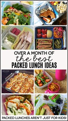 Over a month's worth of packed lunch ideas - perfect for work! Because lunches aren't just for kids.  | Thirty Handmade Days: