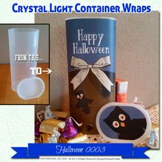 Halloween Crystal Light Container wrappers, owls, Happy Halloween #0003…