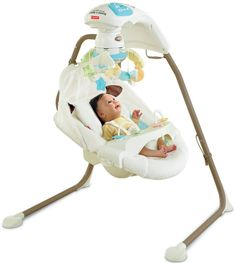Fisher-Price Cradle Swing with AC Adapter Baby Swing Portable Baby Swing, Portable Crib, Cheap Baby Swings, Discount Baby Items, Baby Cradle Swing, Baby Registry Items, Baby Rocker, Baby Needs, Happy Baby