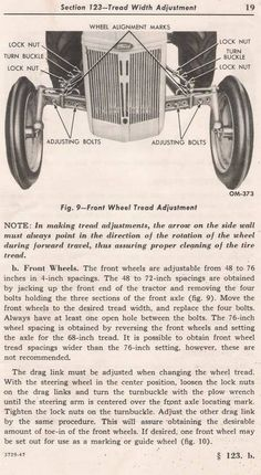 Antique Tractors, Vintage Tractors, Antique Cars, 8n Ford Tractor, Wheel Alignment, Manual, Tractor Farming, Beatitudes, Restore
