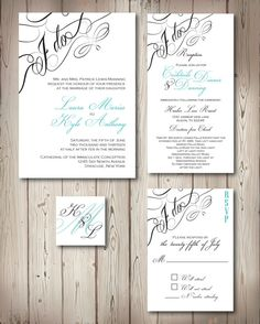 Elegant Wedding Invitation by HollerBackDesigns on Etsy, $100.00