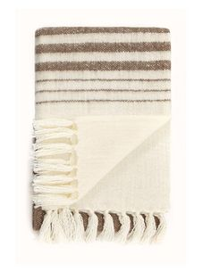 Mohair Stripe Throw Soft Mohair style throw with fringe detail edges.Available in 3 colours.Size: 127 x 152 cm. Colours: Chocolate, Grey, Duck Egg. Acrylic. Machine washable at 30C.