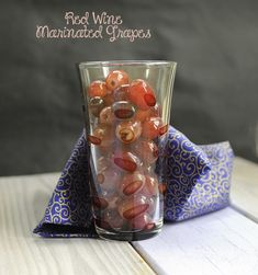Red wine marinated grapes - These red wine marinated grapes are super ...