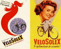 vélosolex 1010, moteur monocylindre deux temps refroidi par air,graissage par mélange, 49 cm3, transmission par galet, 1946-1988, Courbevoie, France, Europe.