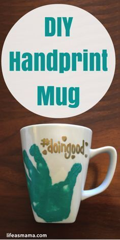 This DIY handprint mug is adorable and a great way to remind yourself or tell another parent they're #doingood. And there's still time to tell the world the great job another parent is doing by nominating them for @MinuteMaid #doingoodcontest. #ad #sponsored