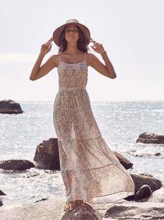 4299c37f74 Floral Strap Beach Resort Wind Slim Frill Dress  shopforselection  dress   look  life